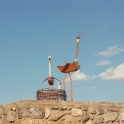 Esculturas reciclaje de Monteagudo